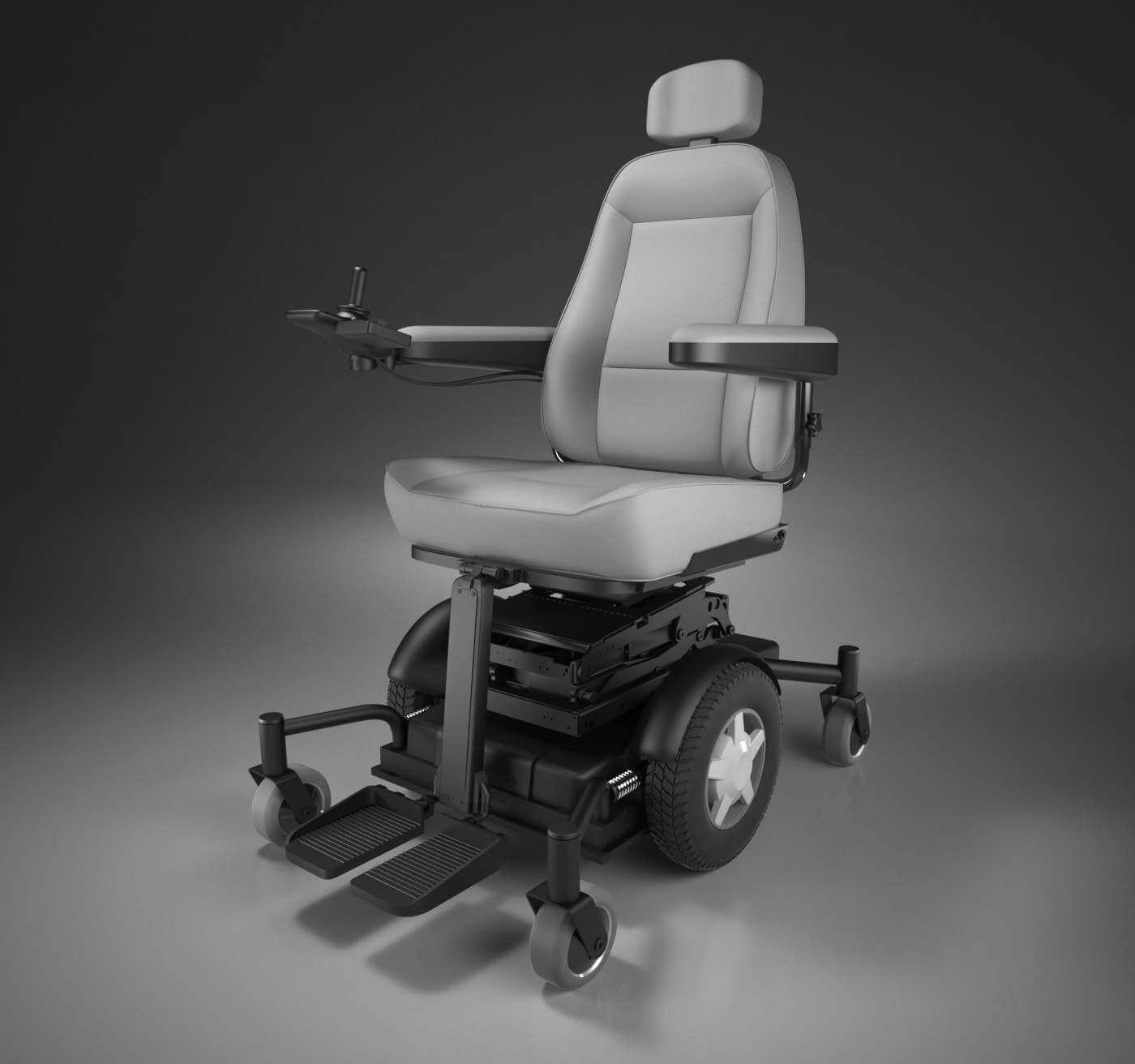 Motorized Wheelchair 3d Model