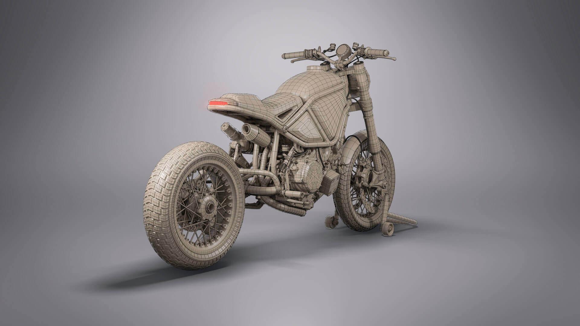 Custom Ducati Scrambler 3D Model