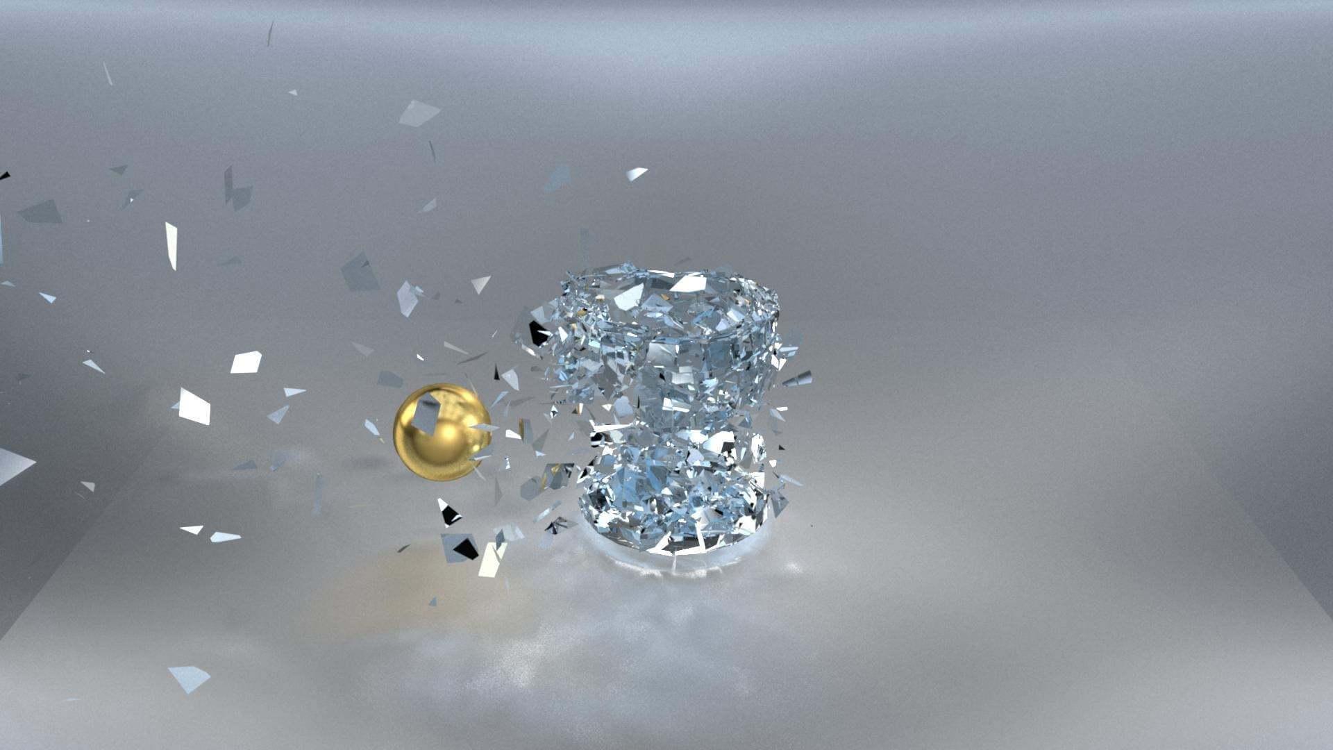 Glass Breaking 3D Model