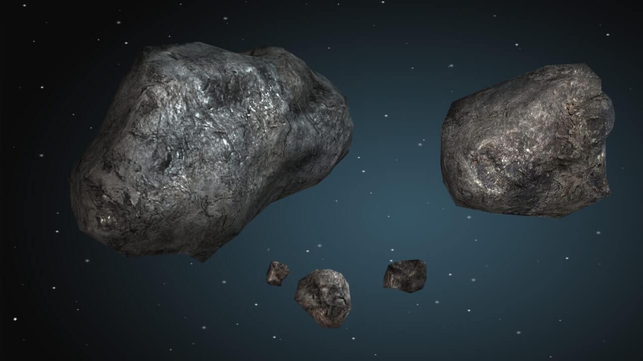 meteoroids asteroids earth - 1280×720