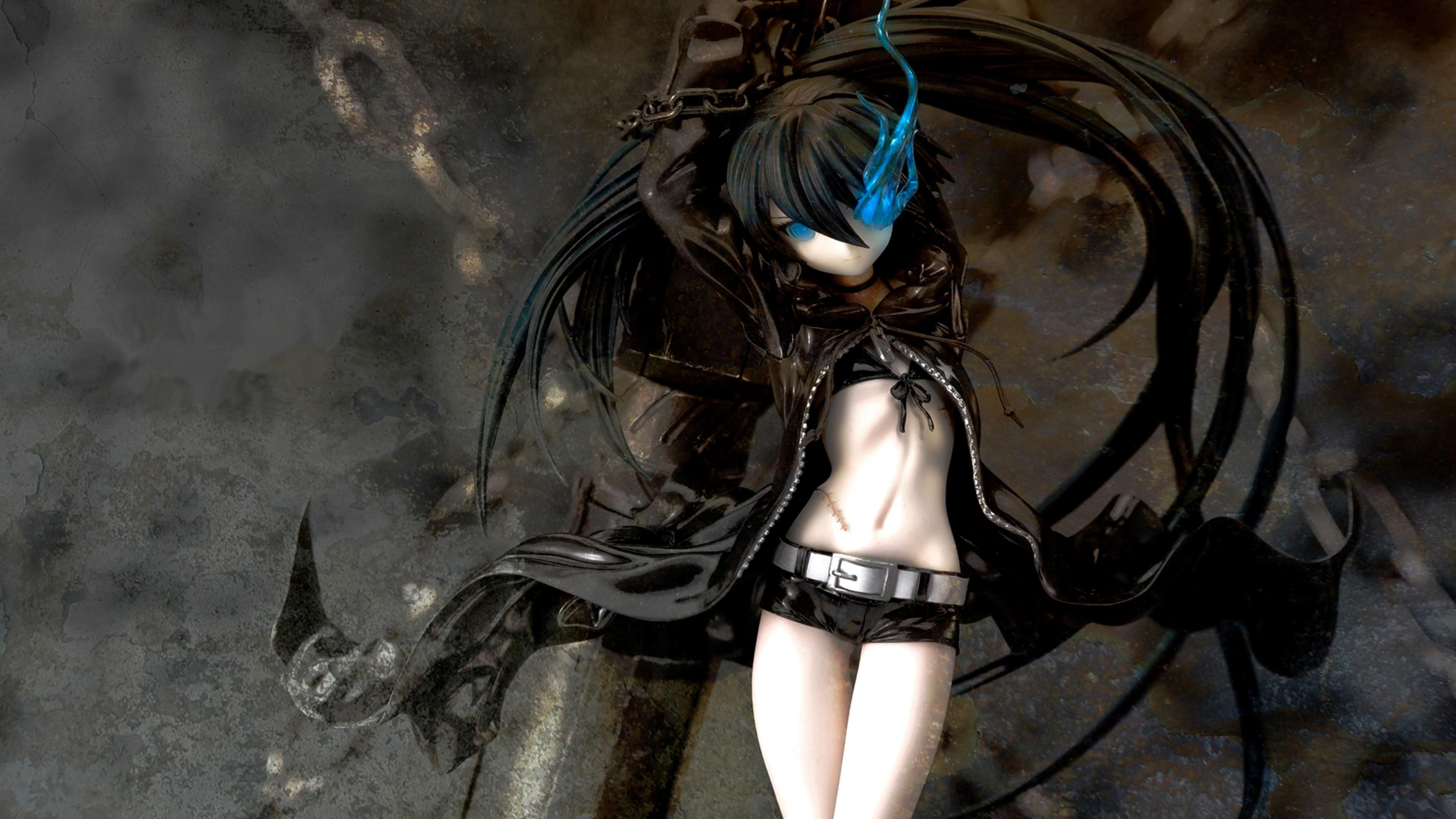 Dark Anime Girl 3d Desktop Hd Wallpaper