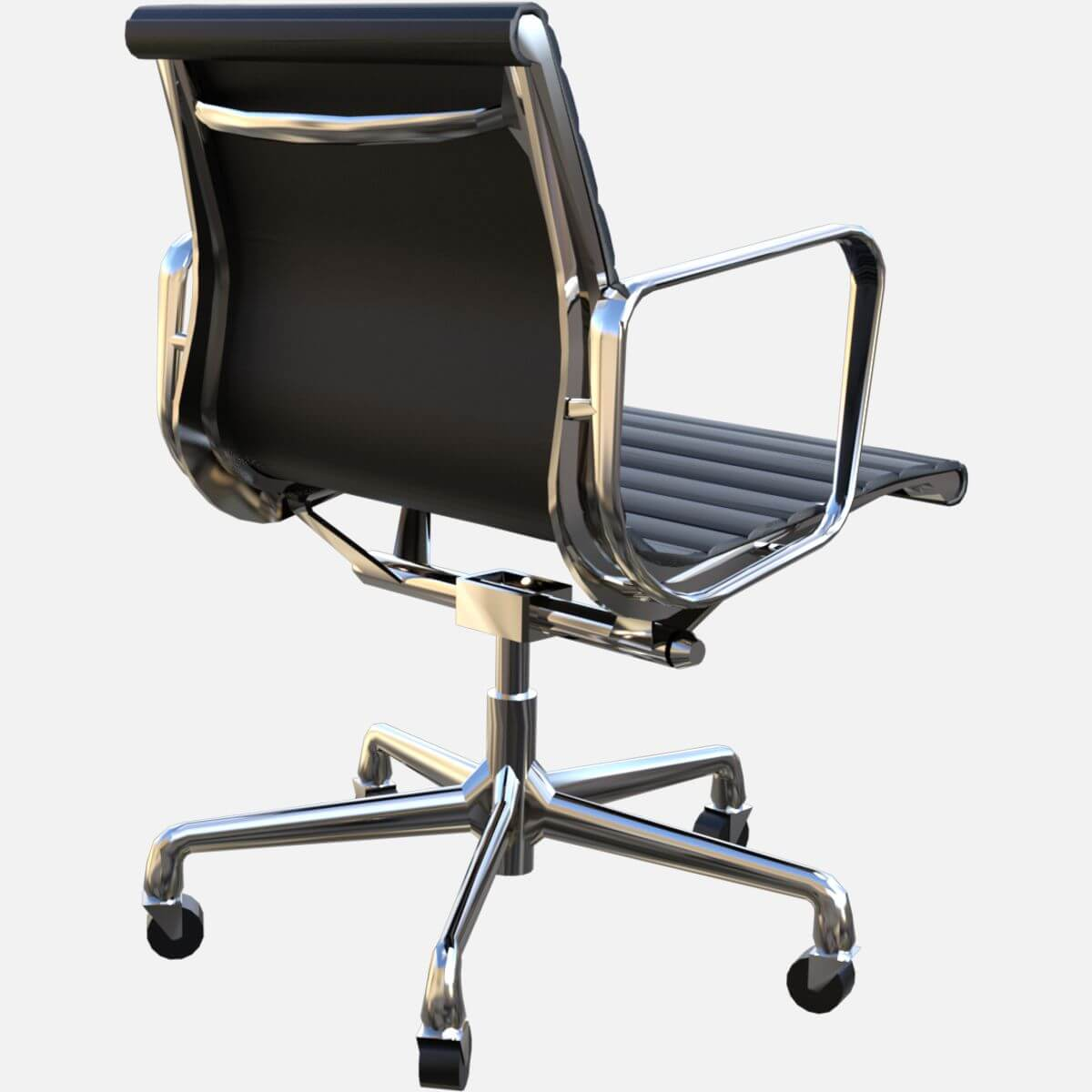 Eames aluminum group management chair free 3d model for Icon mobel eames