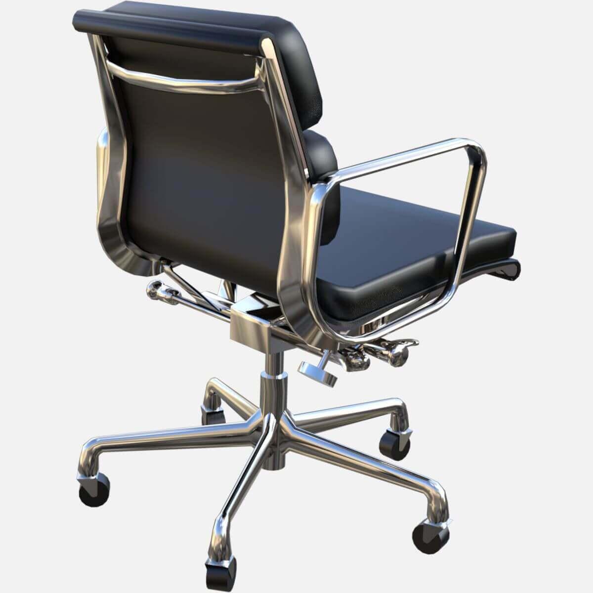 eames aluminum group soft pad management chair free 3d model