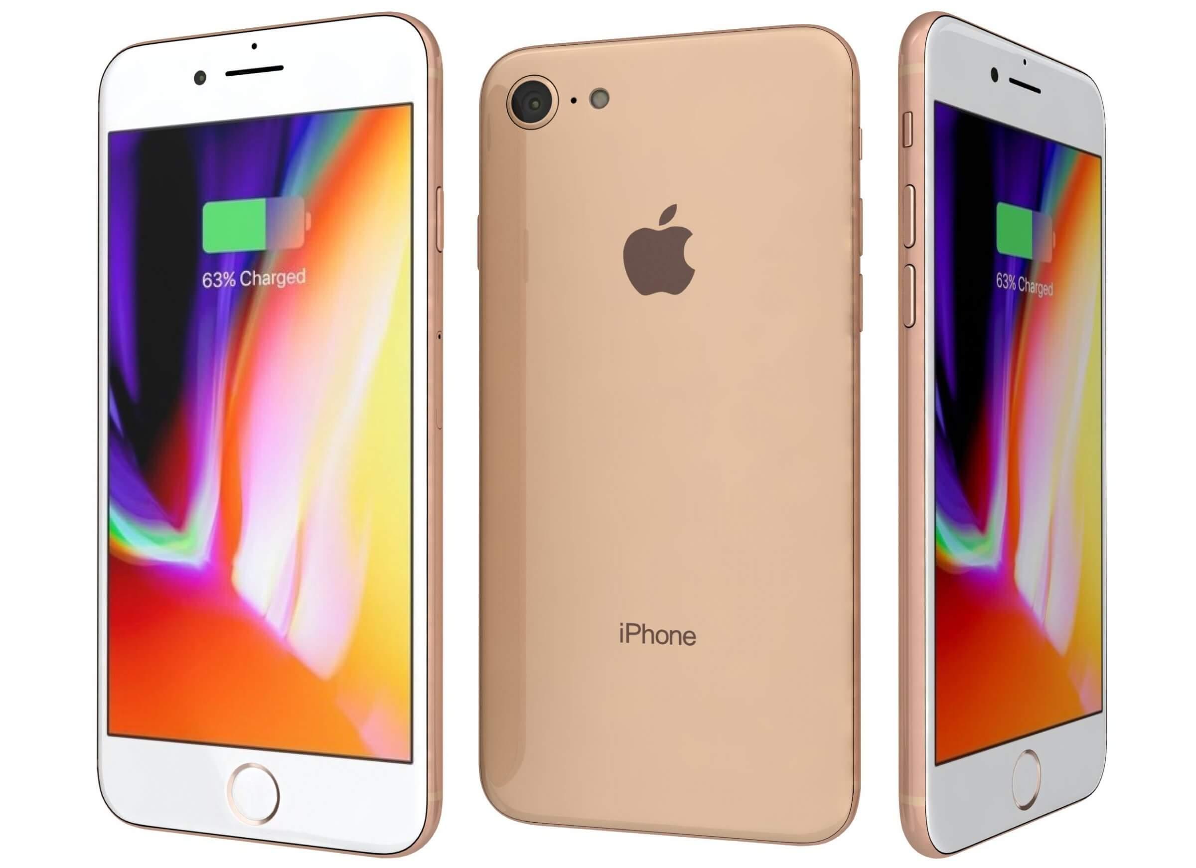 Apple iPhone 8 Gold 3D Model