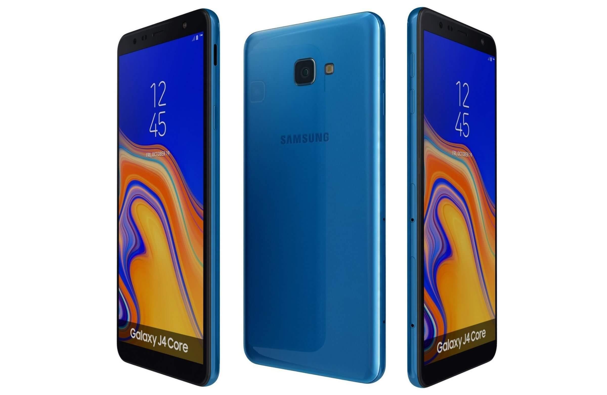 Samsung Galaxy J4 Core Blue 3d Model