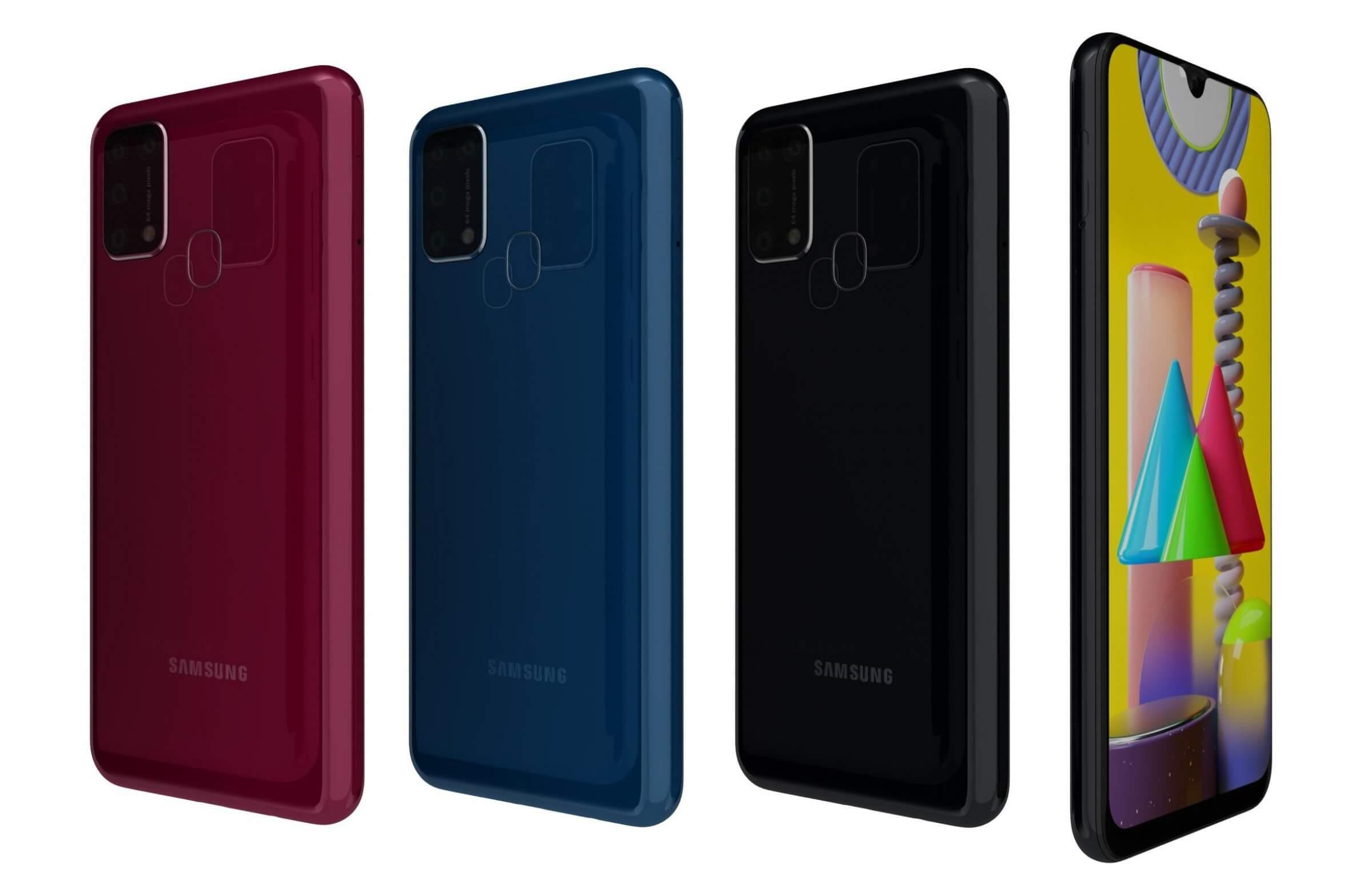 Samsung Galaxy M31 All Colors 3d Model