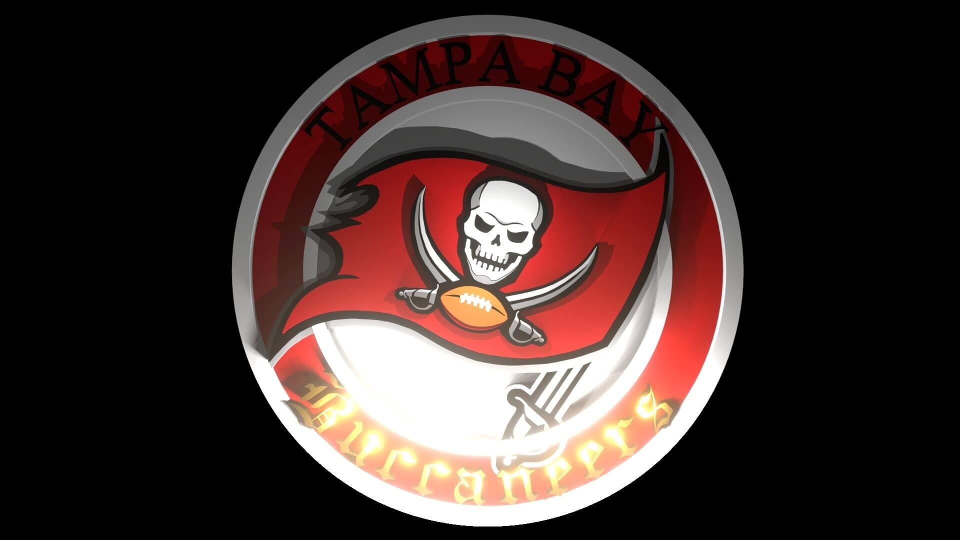 Tampa Bay Buccaneers Logo 3d Model
