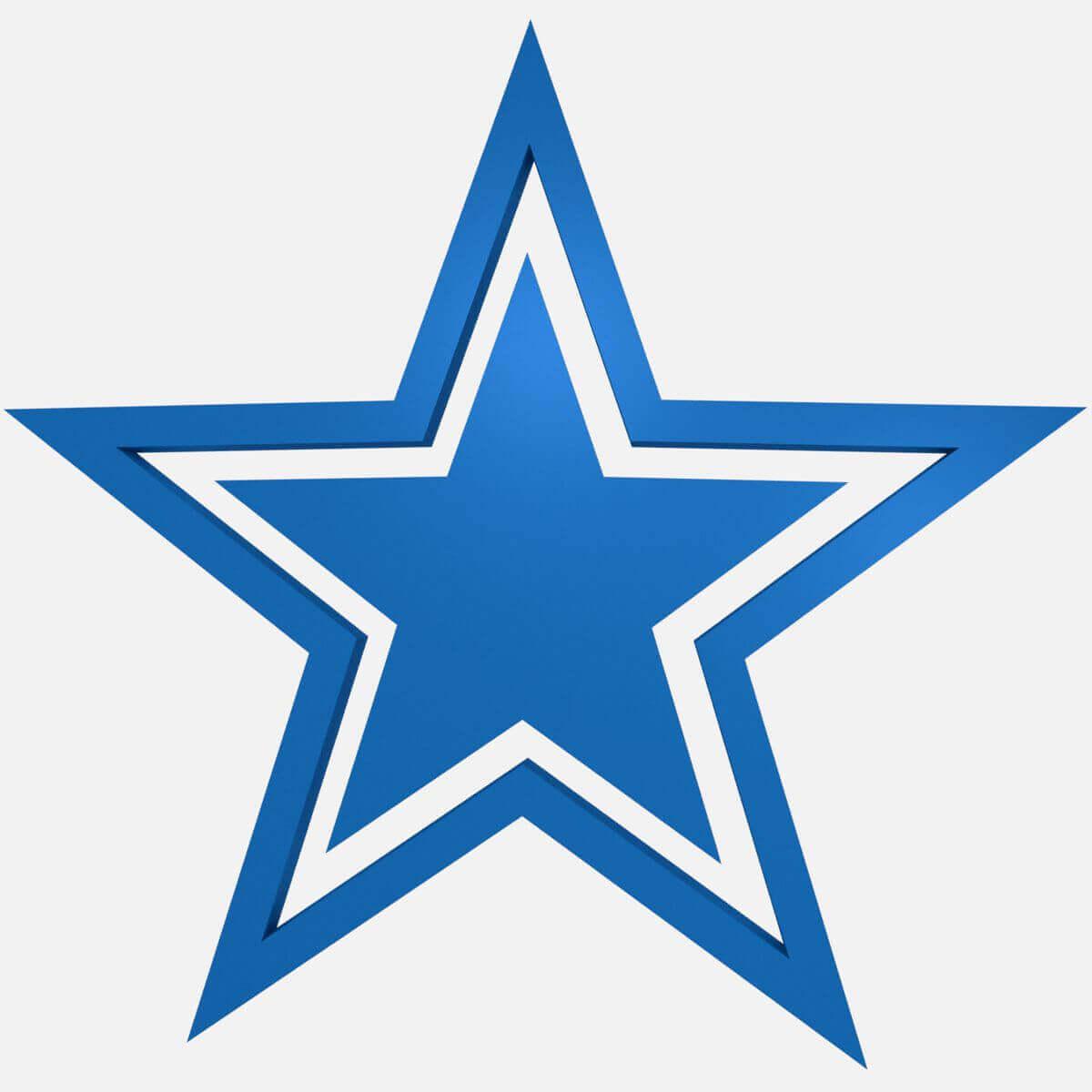 dallas cowboys football logo blue print ready 3d model rh renderhub com cowboys symbol images cowboys symbol images