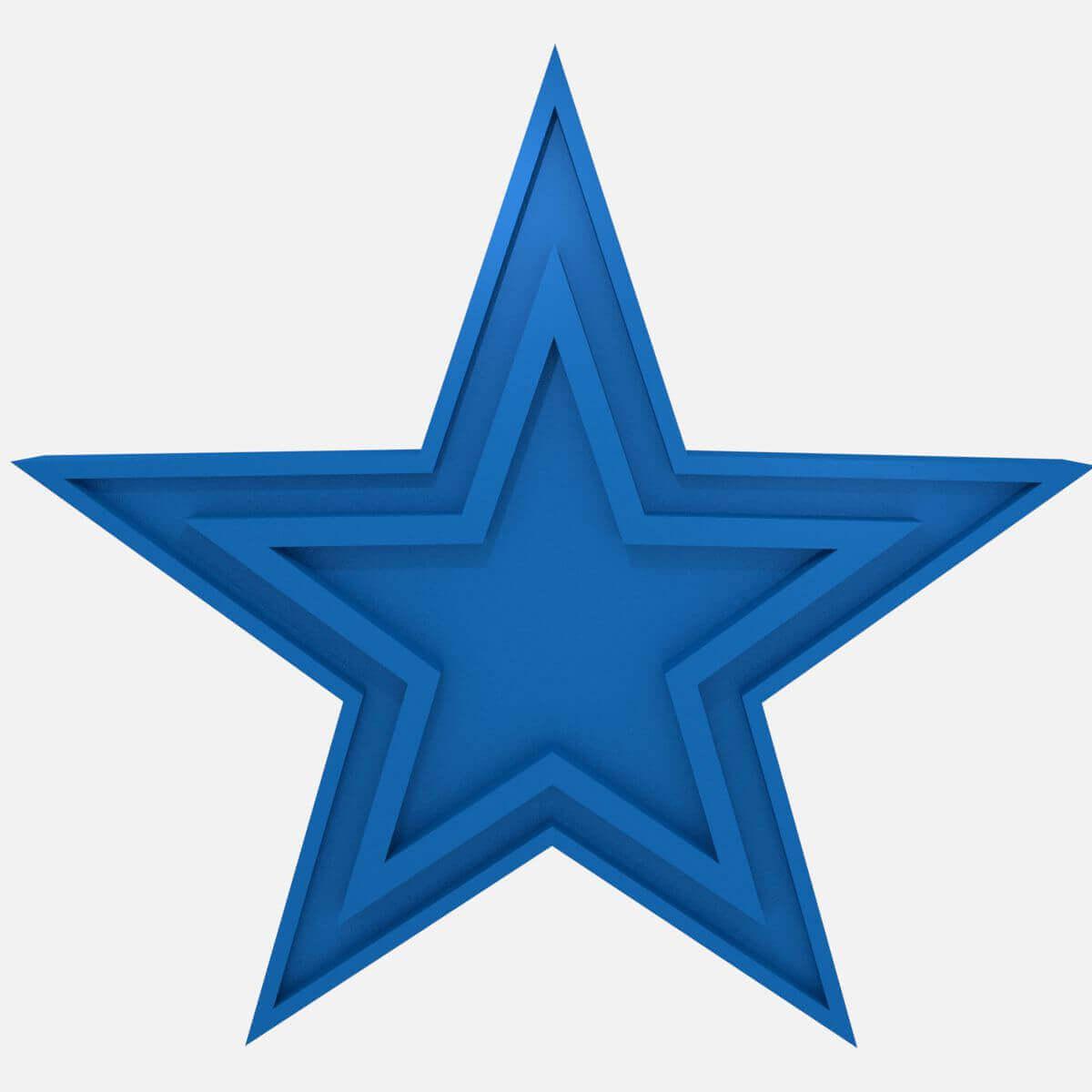 Dallas Cowboys Football Logo Print Ready 3D Model