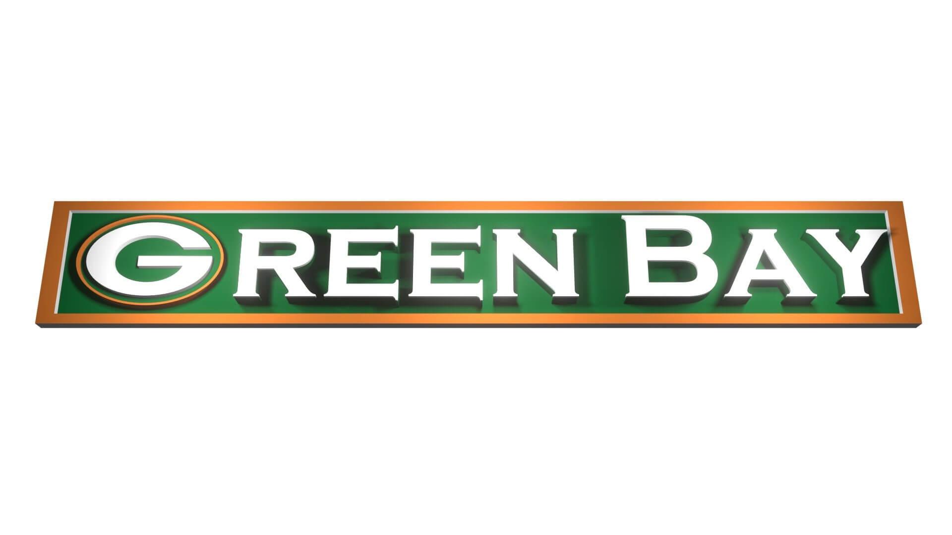 Green Bay Packers Logo 3d Model