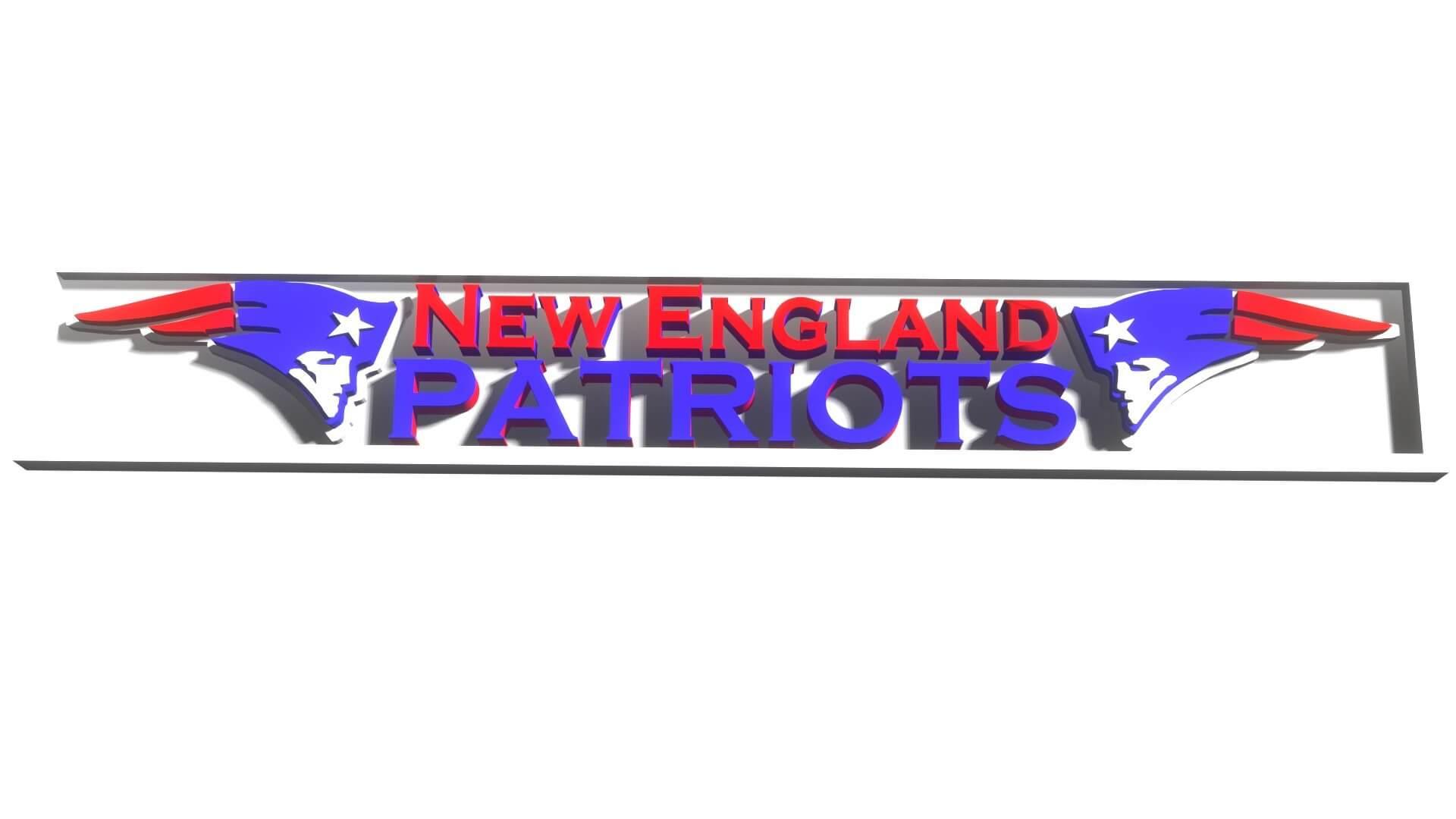New England Patriots Logo 3d Model