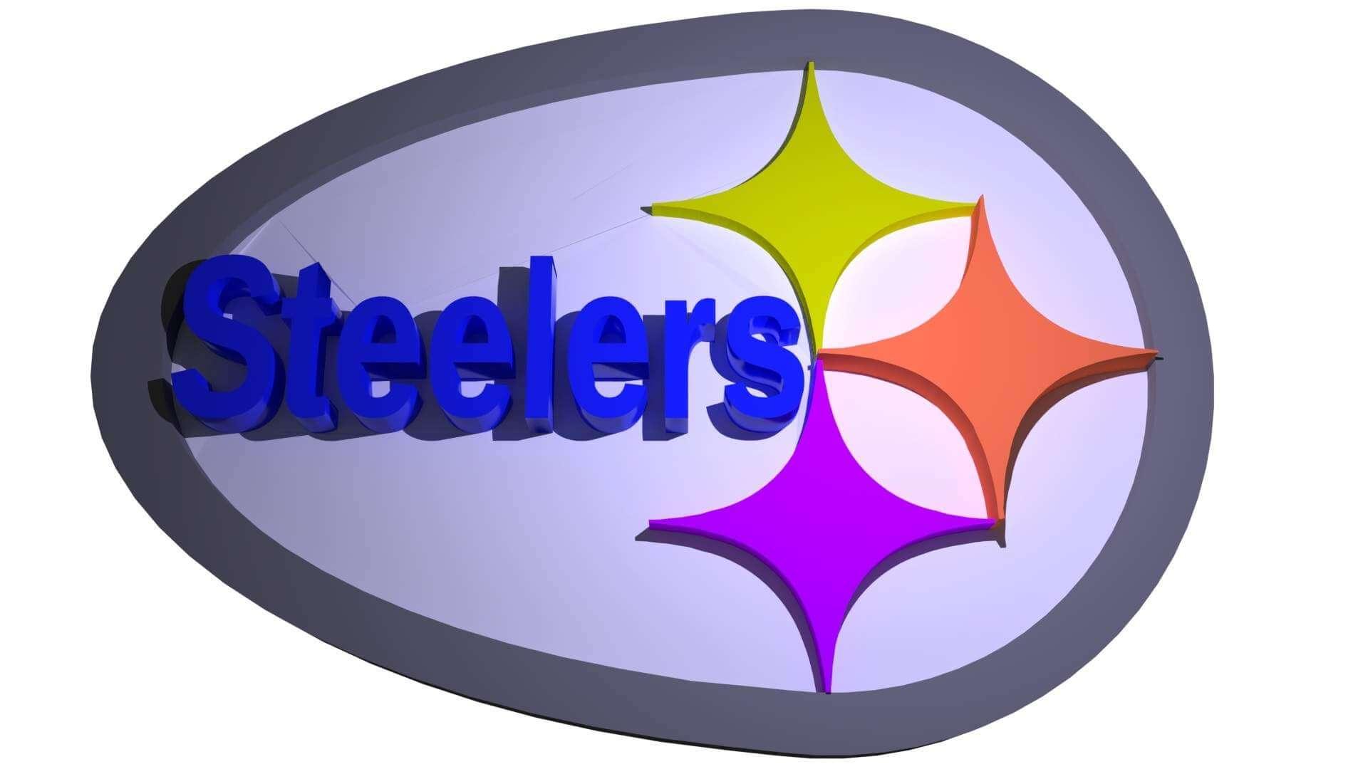 New Steelers Logo Print Ready 3d Model