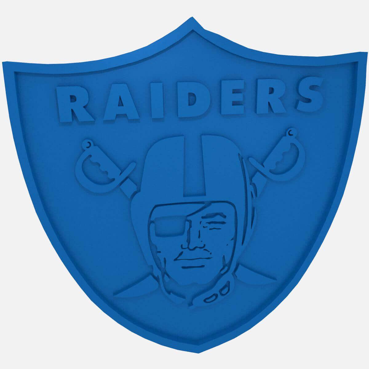 Raiders nfl football logo print ready 3d model raiders nfl football logo buycottarizona