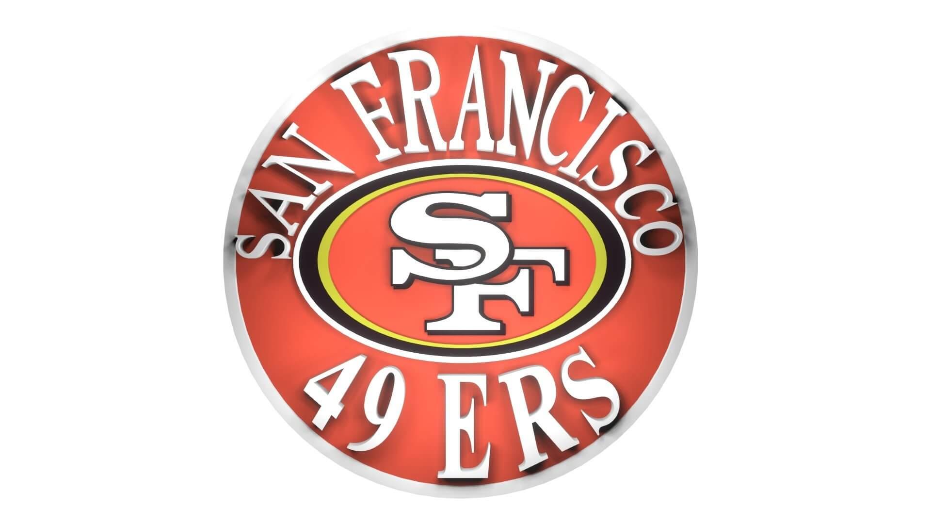 San Francisco 49ers Logo 3d Model
