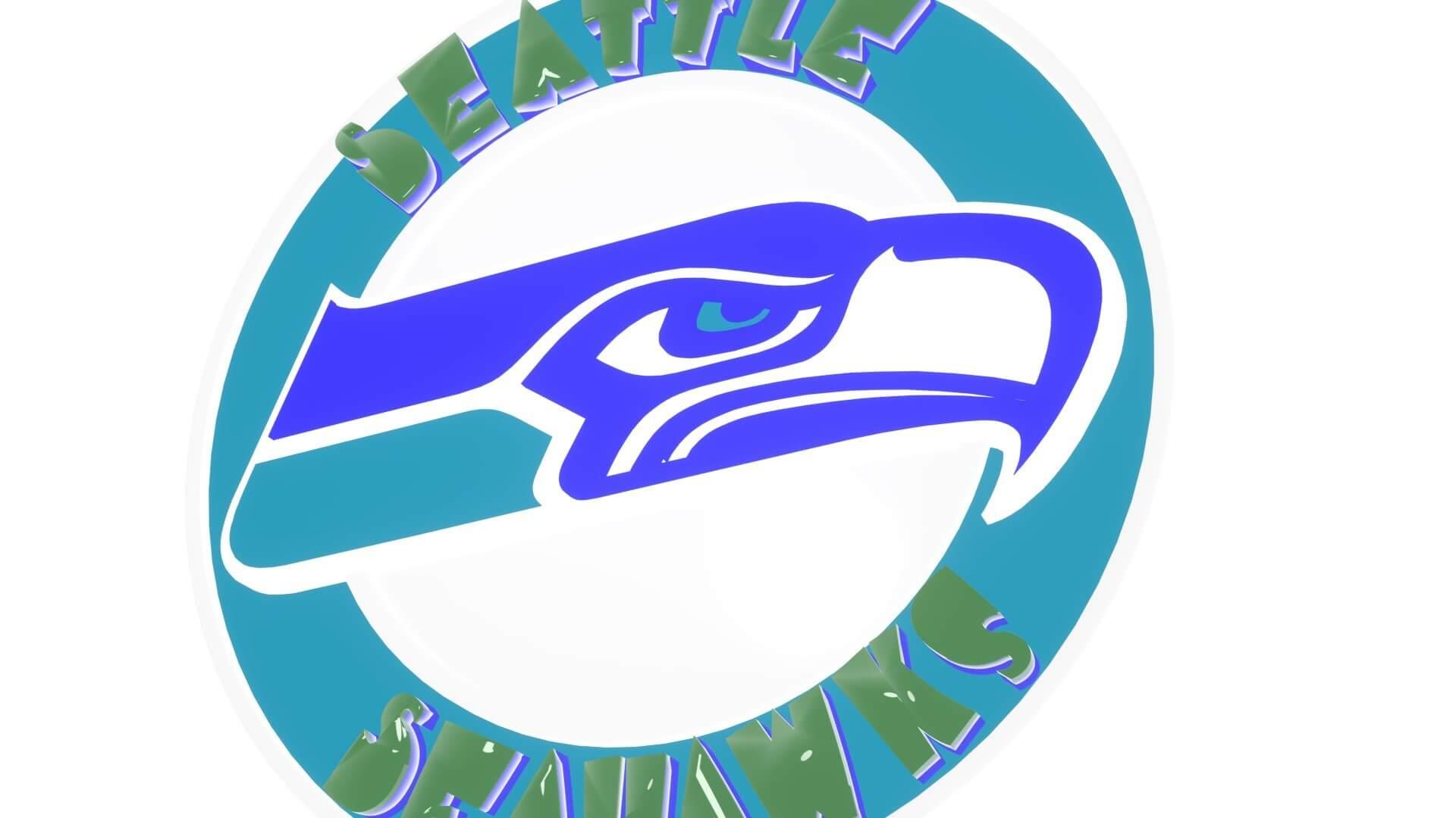 Seahawks Logo Disc 3d Model
