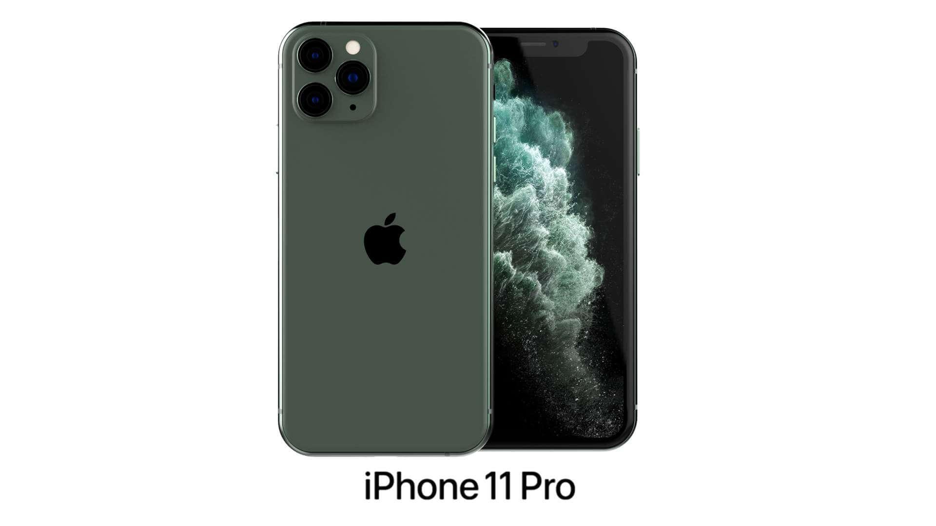Apple Iphone 11 Pro Midnight Green 3d Model