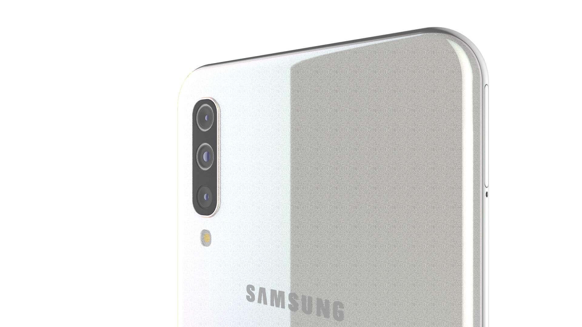 Samsung Galaxy A50 White 3d Model