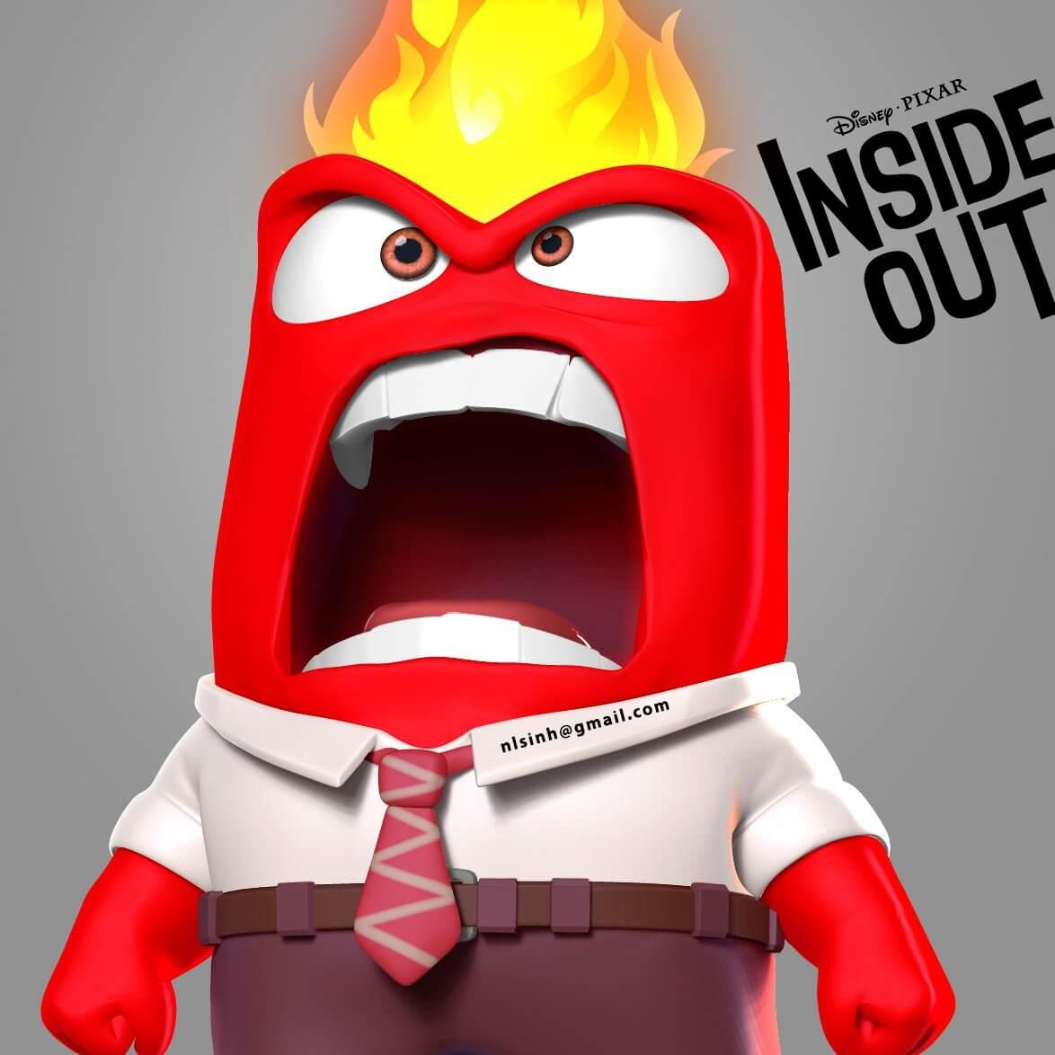 Disney Girls Inside Out Anger The Boss T-Shirt