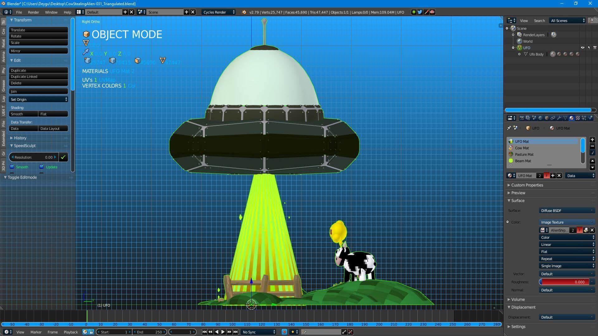 Alien Invader 3D Model