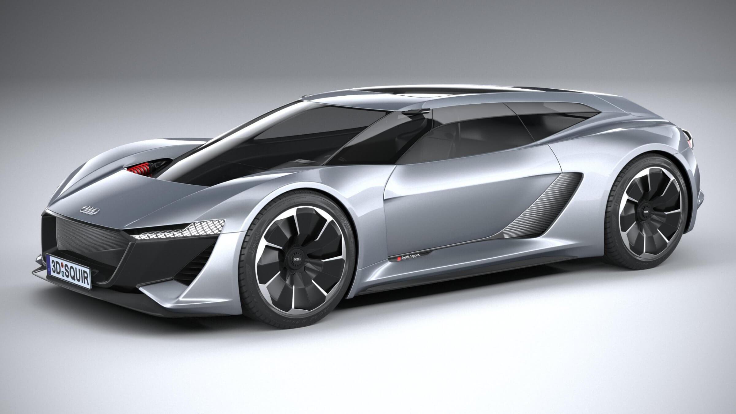 Audi Pb18 E Tron Concept 3d Model