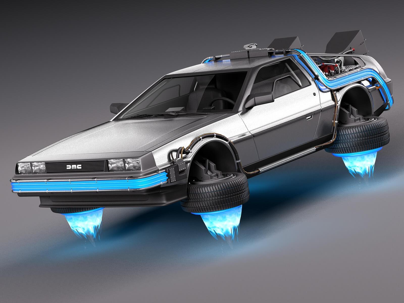 Back To The Future 2 DeLorean 3D Model