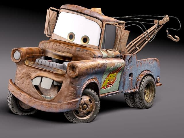 Cars Tow Mater 3D Model