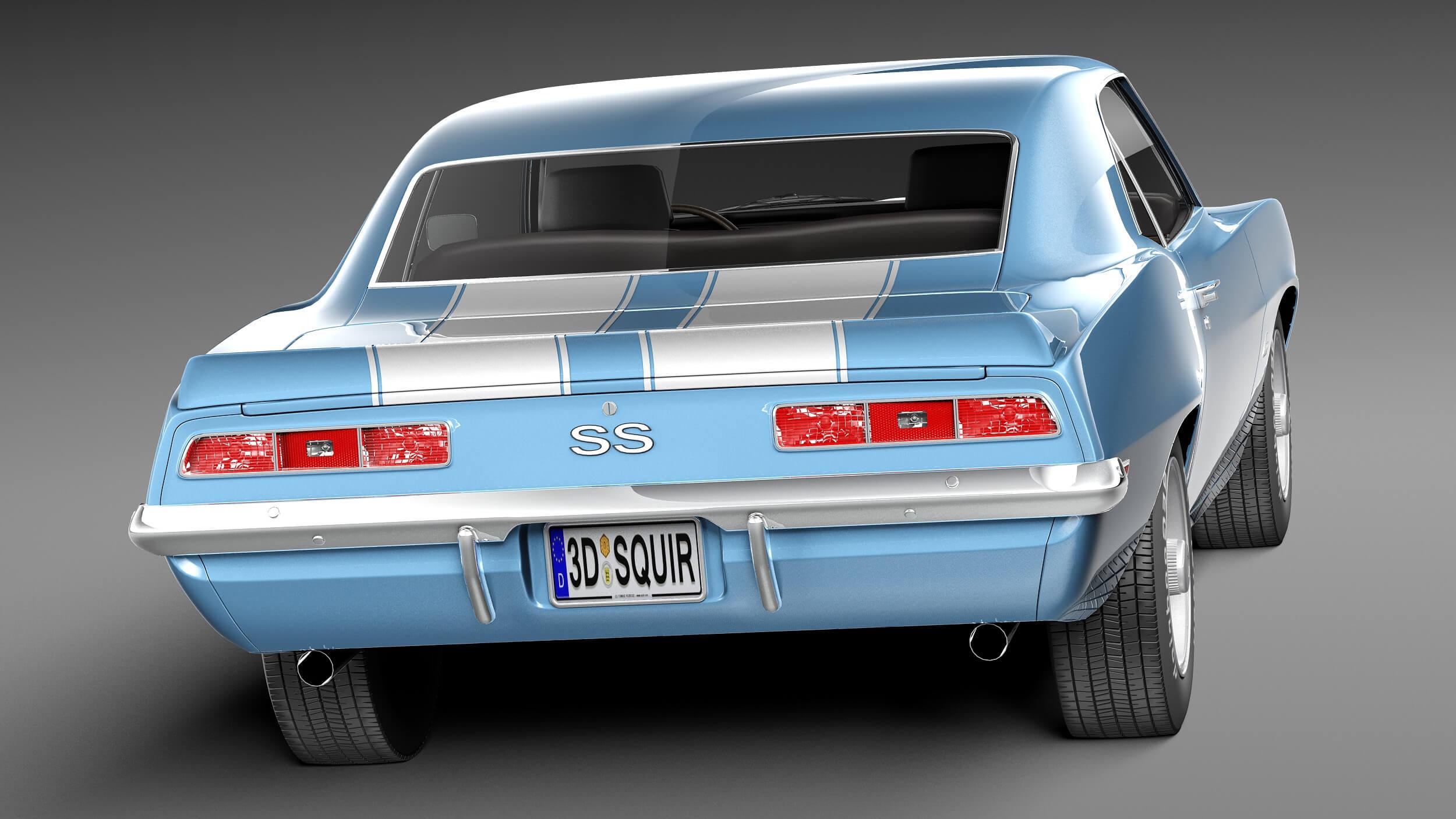 Camaro Ss 1969 >> Chevrolet Camaro Ss 1969 3d Model