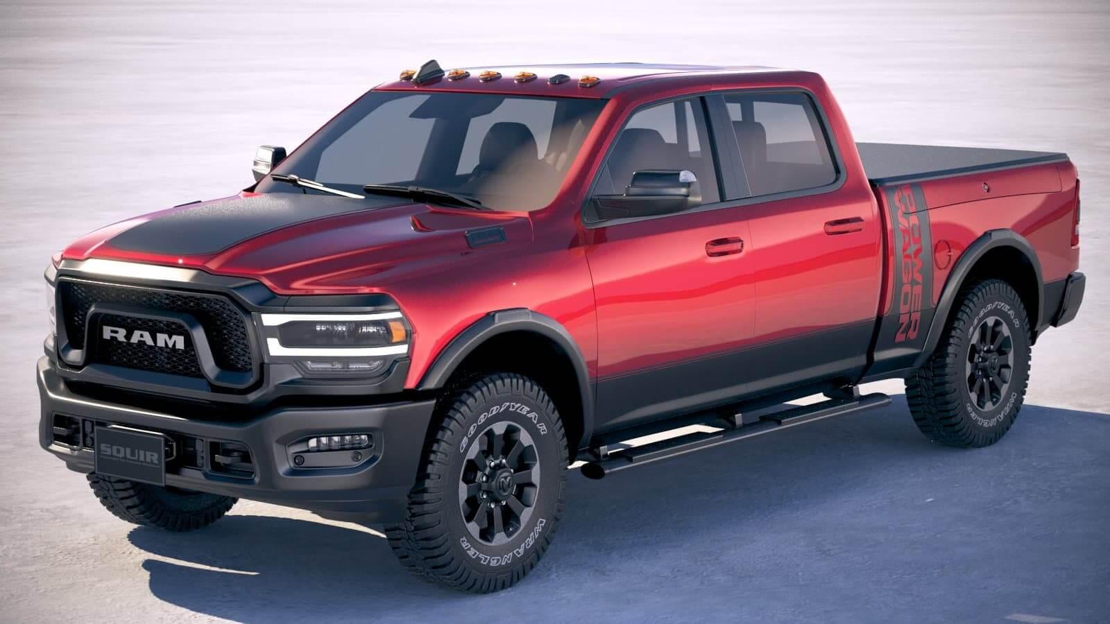 Dodge Ram Power Wagon 2019 3d Model
