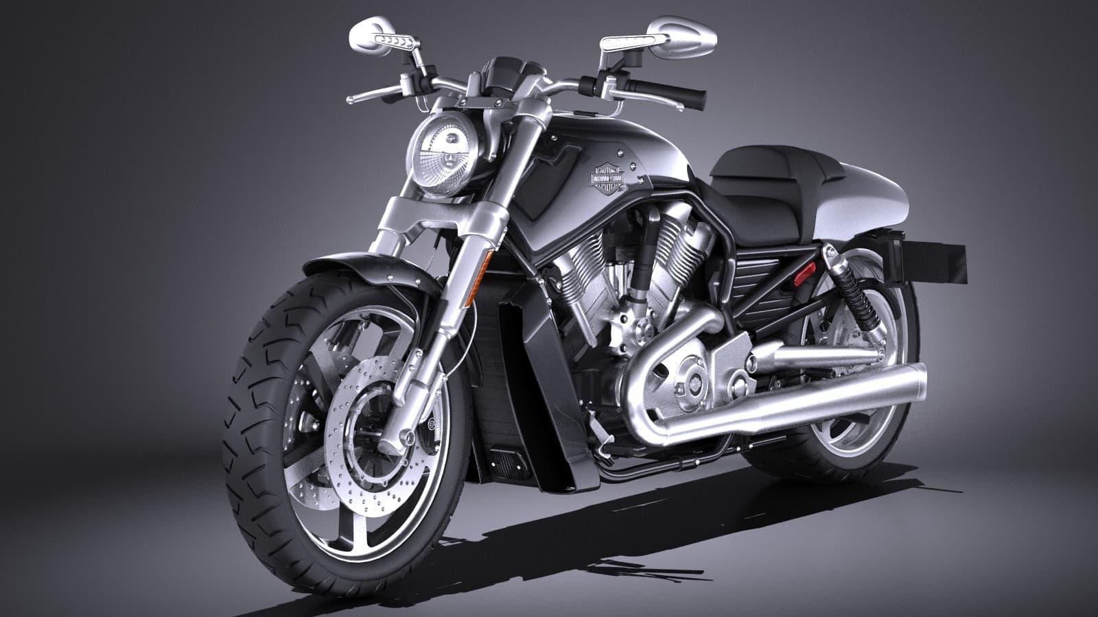 Harley Davidson V Rod Muscle 2016 3d Model