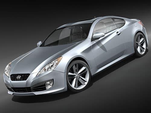 Hyundai Genesis Coupe 2009 3d Model