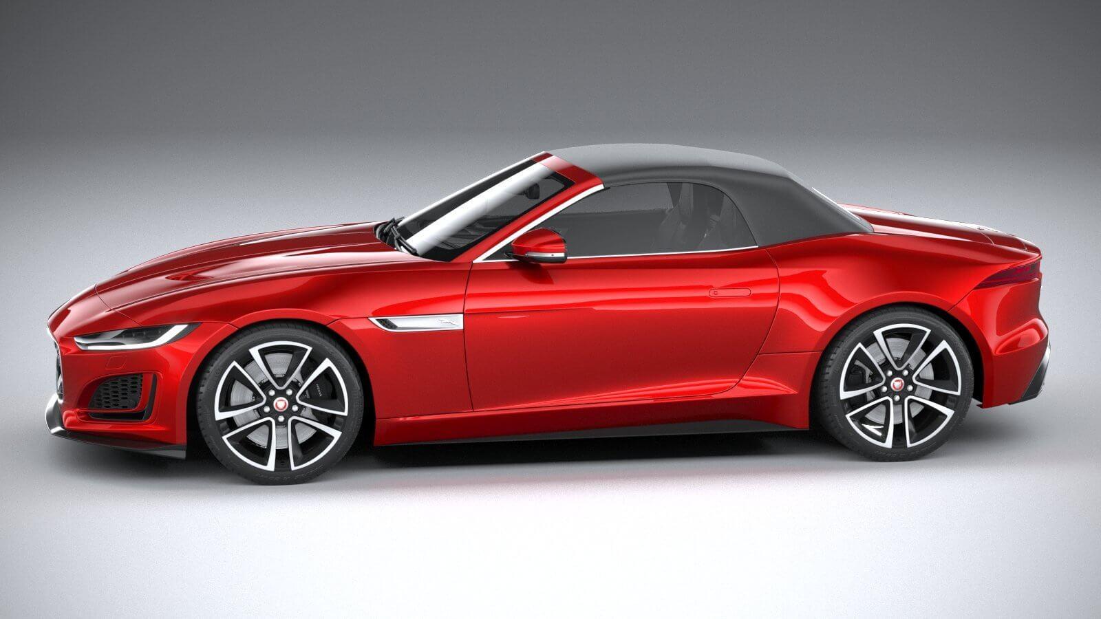 Jaguar F-Type R Dynamic Convertible 2021 3D Model