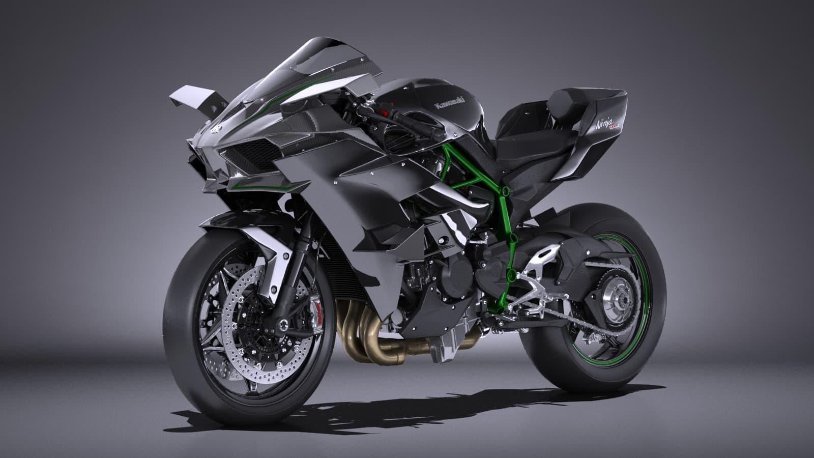 Kawasaki Ninja H2r >> Kawasaki Ninja H2r Supercharged 2016 3d Model