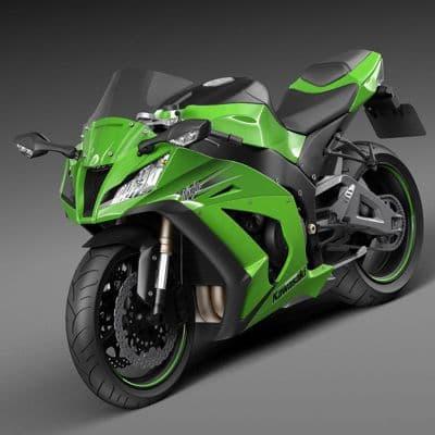 Kawasaki Ninja ZX10R 2011 3D Model