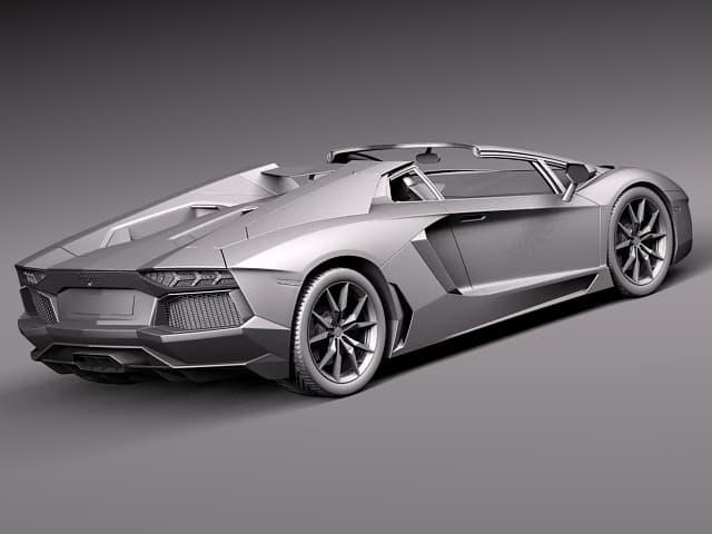 Lamborghini Aventador Roadster 2013 3d Model