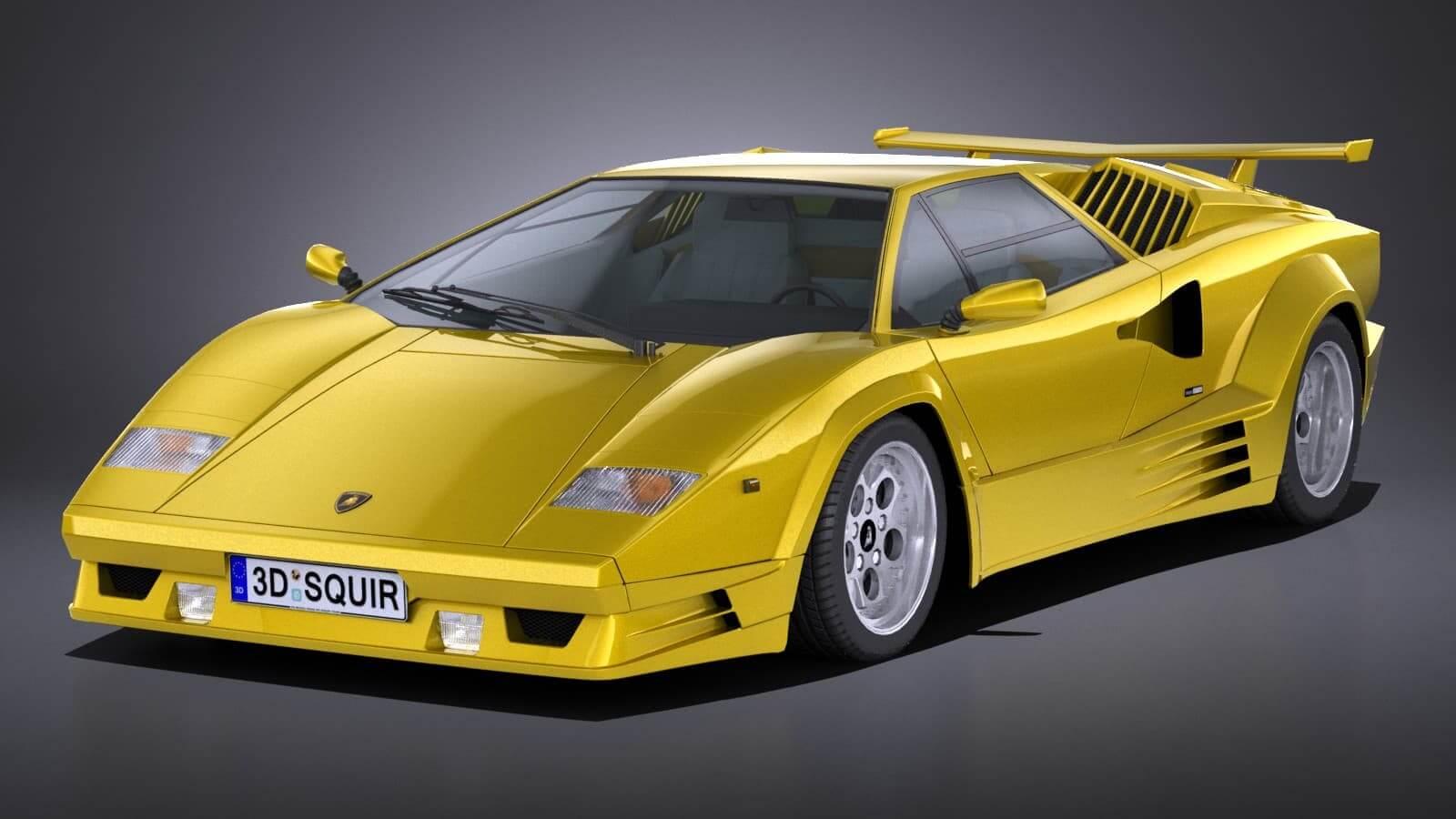 Lamborghini Countach 25th Anniversary 3d Model