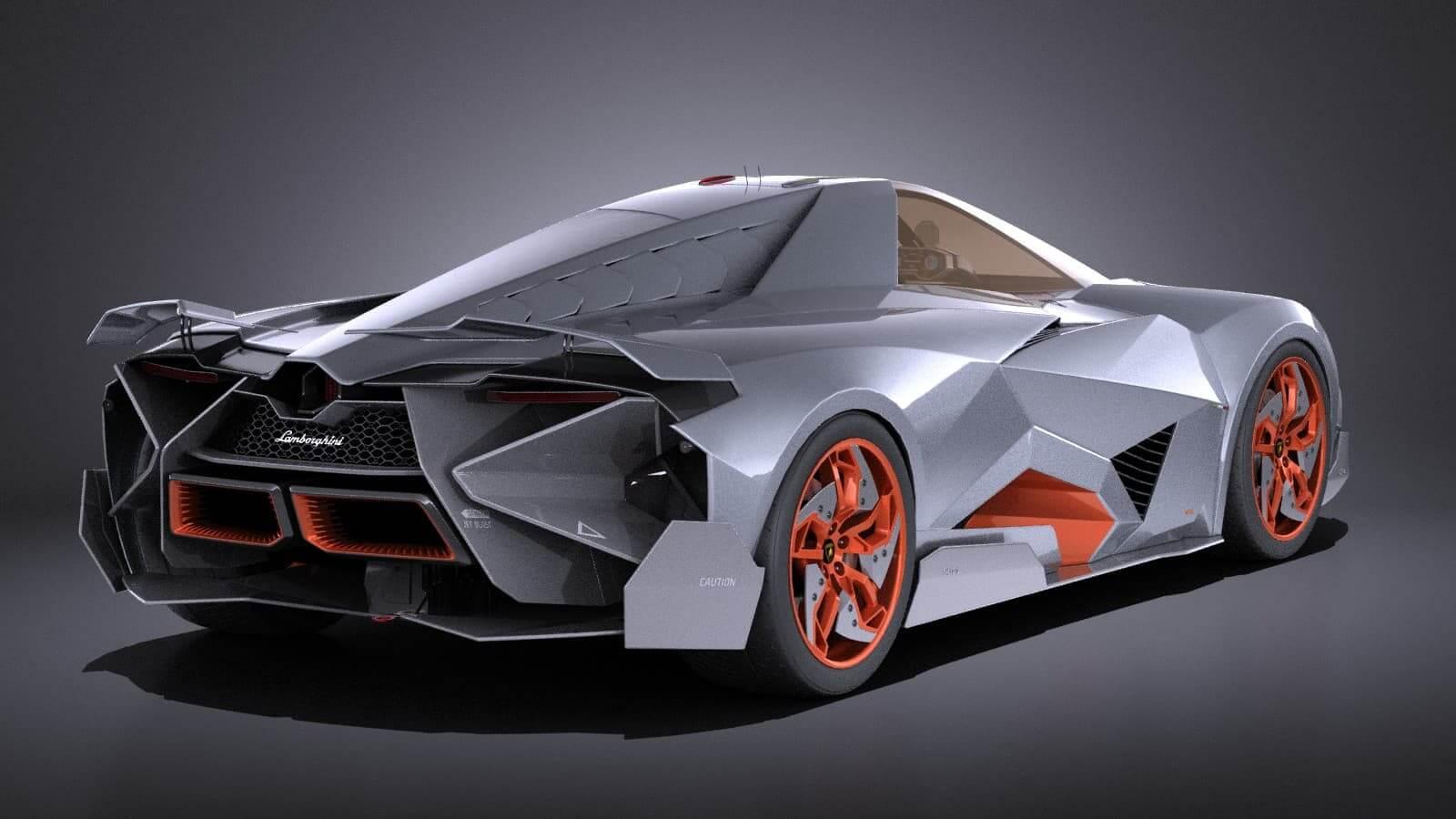Lamborghini Egoista Vray 3d Model