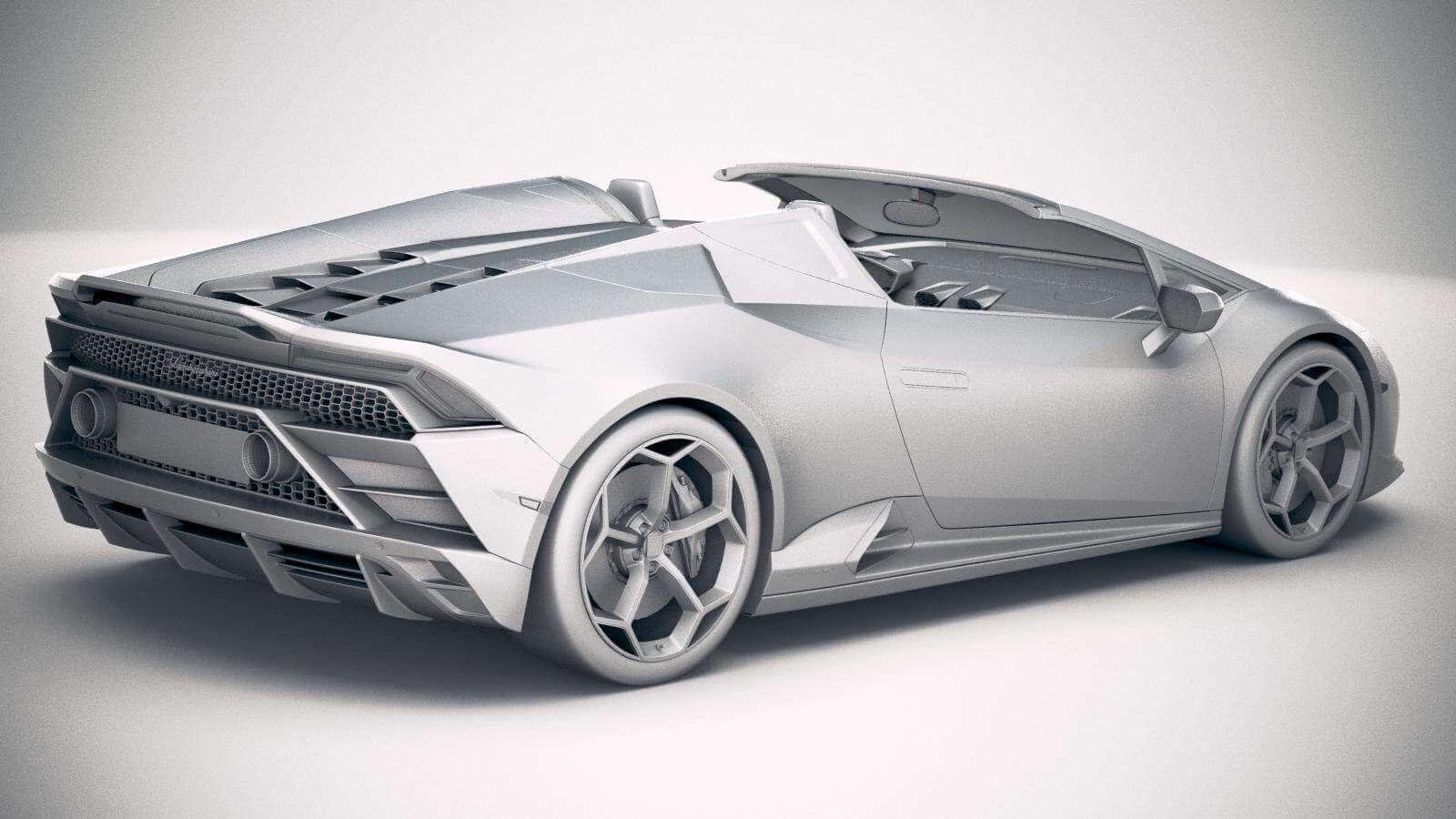 Lamborghini Huracan Evo Spyder 2019 3d Model