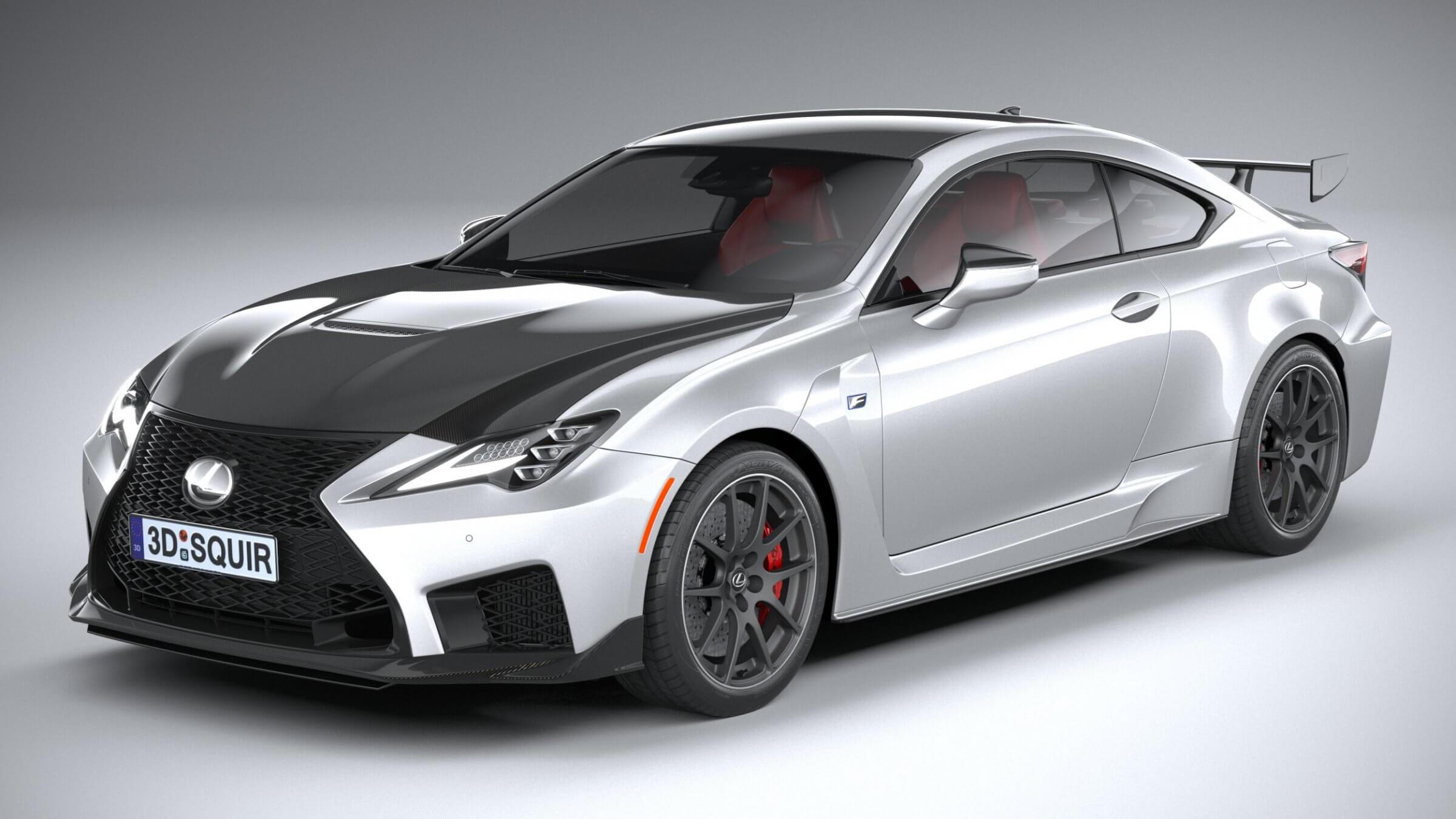 Lexus Rc F Track Edition 2020 3d Model