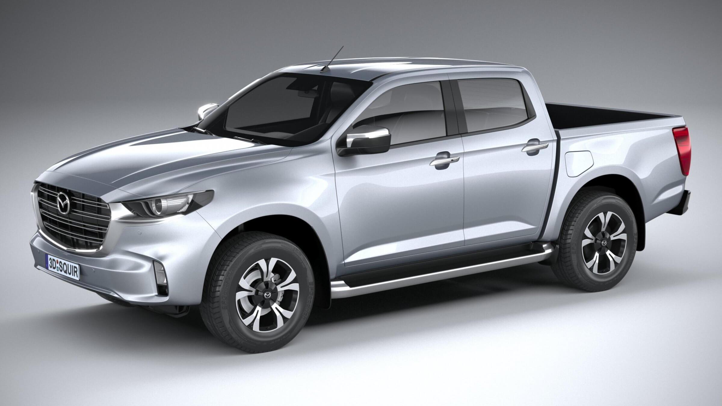 Mazda Bt 50 2021 3d Model