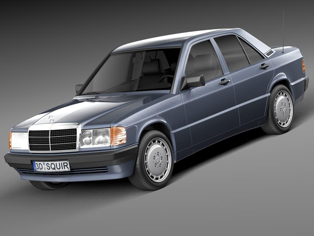 Mercedes 190E W201 1982-1993 3D Model