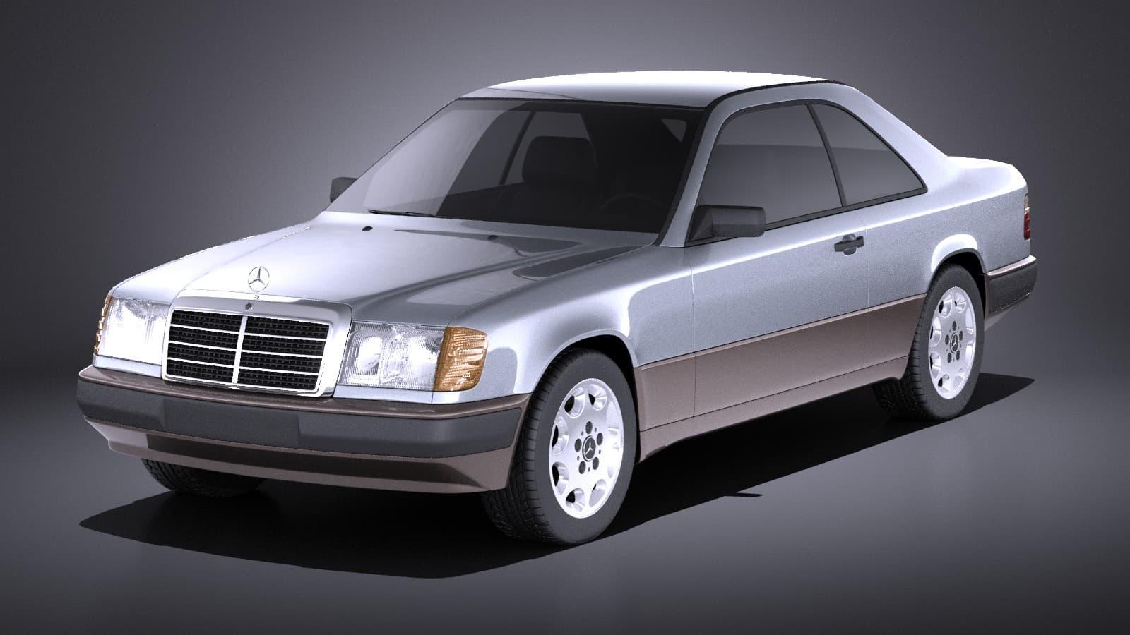 Mercedes E Class W124 Coupe Vray 1990 3d Model