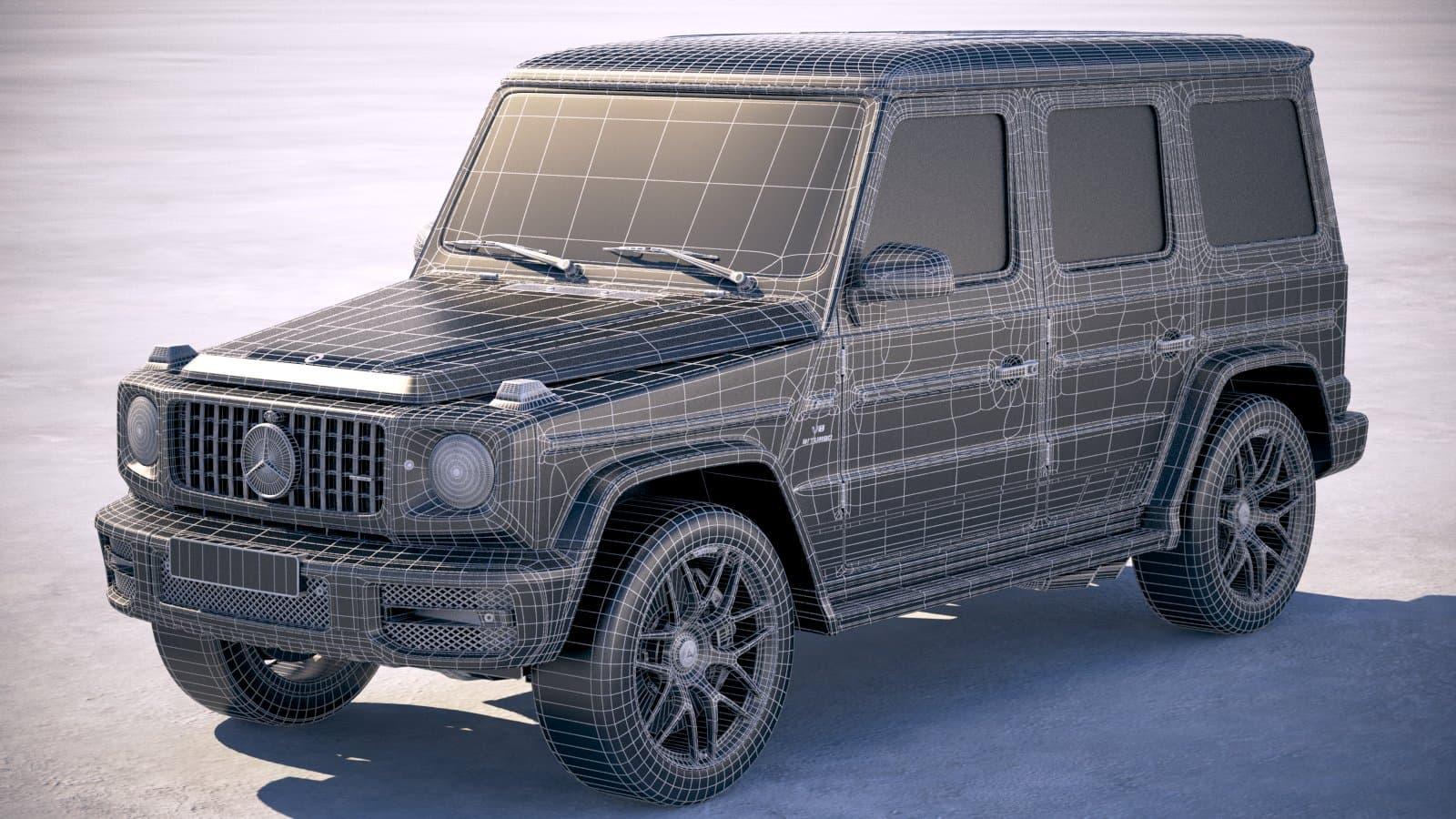 Mercedes G63 AMG 2019 3D Model