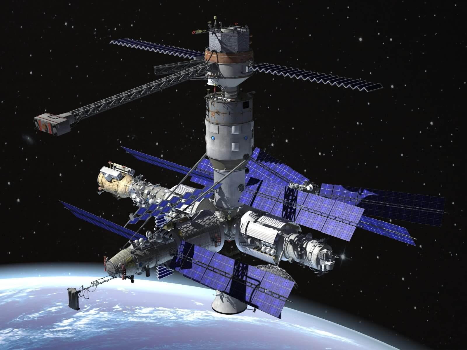 Mir Space Station Complex 3d Model