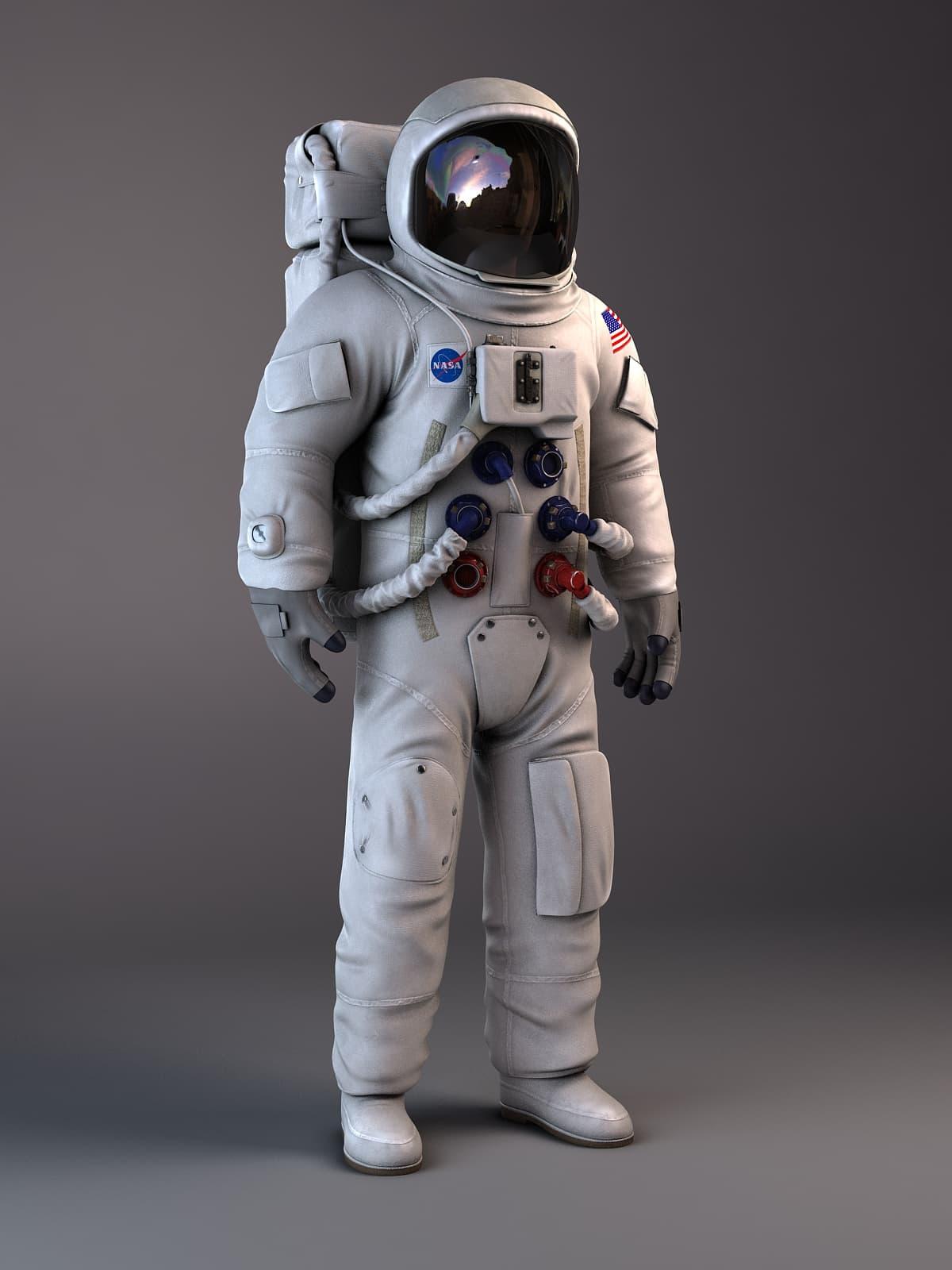 NASA Astronaut Maya Rig vray 3D Model