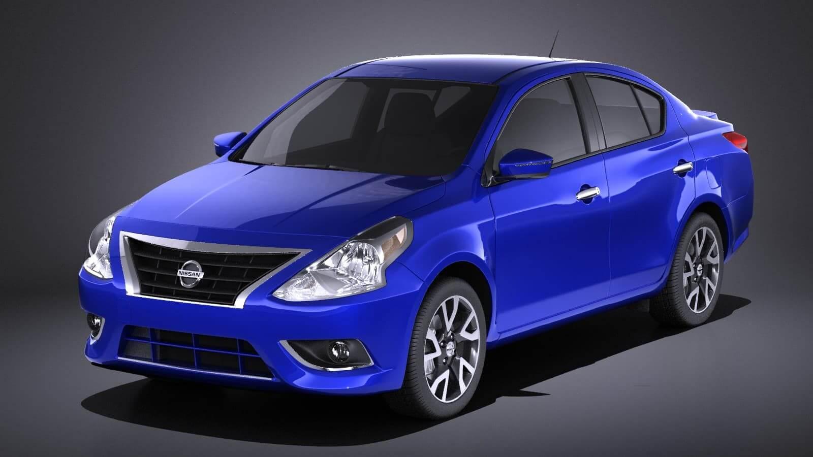 Nissan Versa Sedan 2017 Vray 3d Model