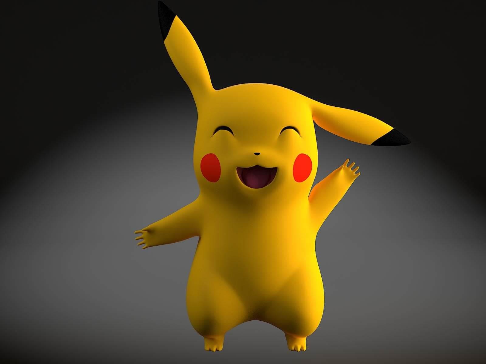 Pikachu Pokemon 3D Model