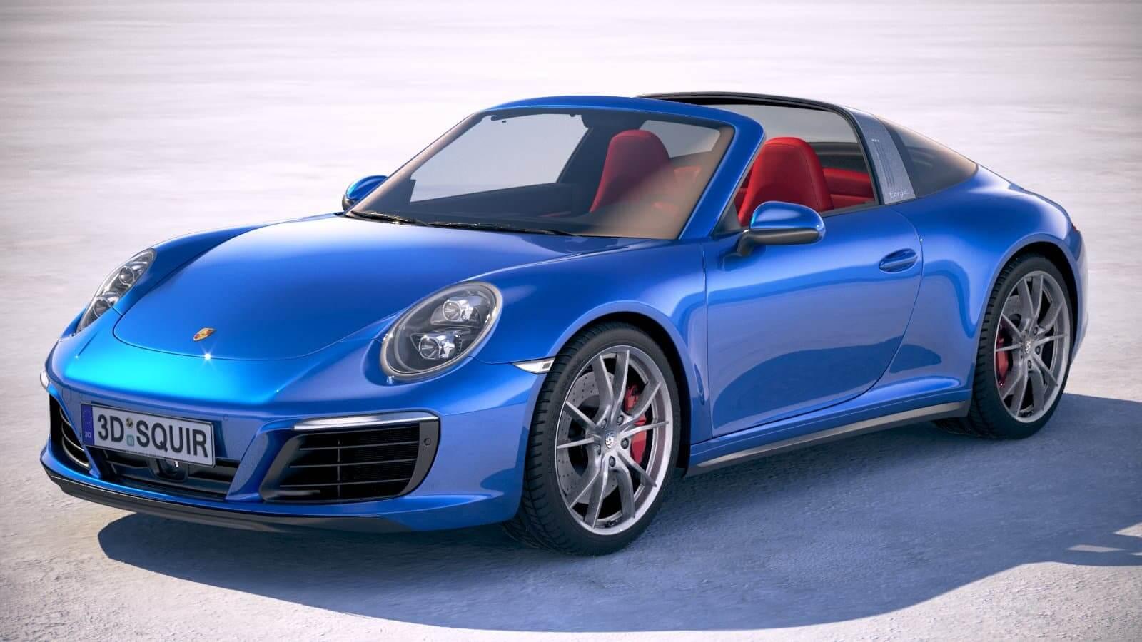 911 Targa 4S >> Porsche 911 Targa 4s 2018 3d Model