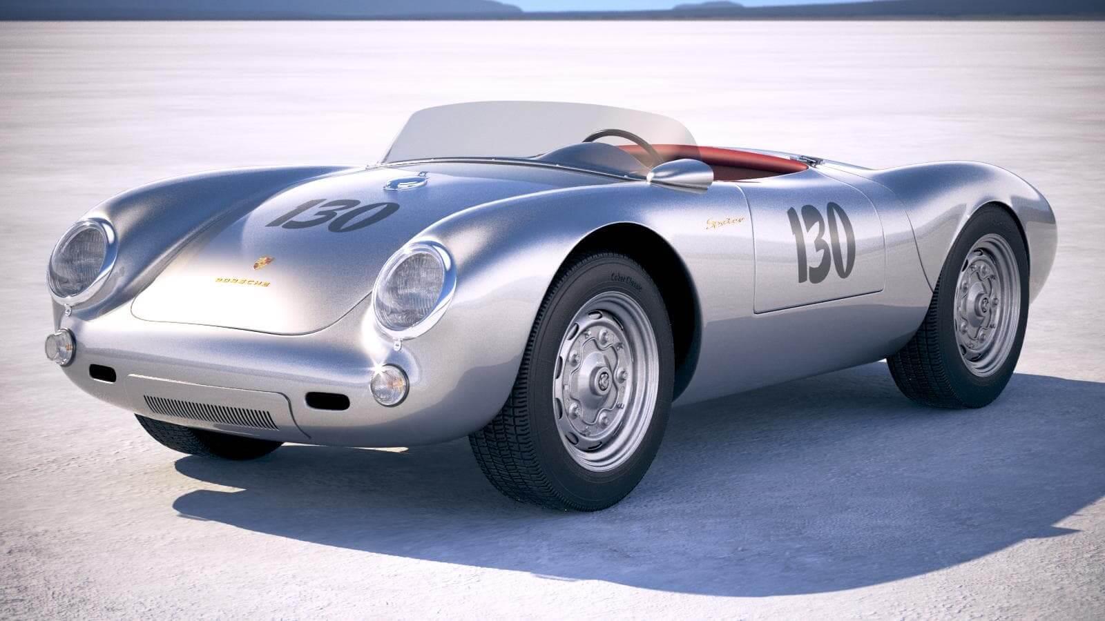 Porsche Spyder 550 >> Porsche Spyder 550 1953 3d Model