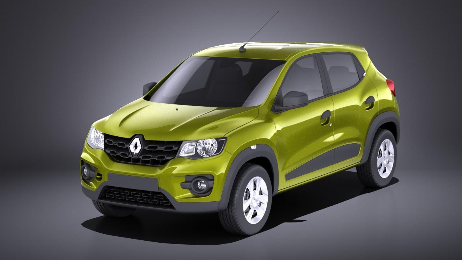 Renault Kwid 2018 Vray 3d Model