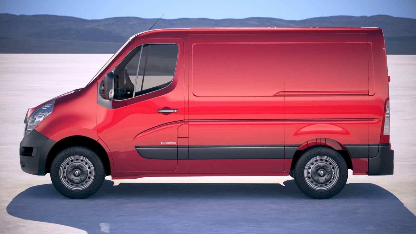 Renault Master Van 2018 Short Low 3D Model